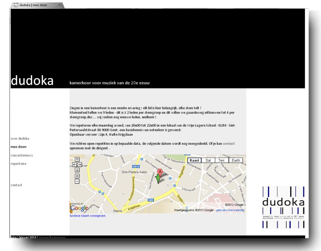 Onze eerste website